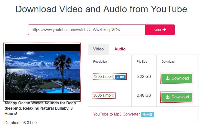 用 Y2mate下载Youtube视频