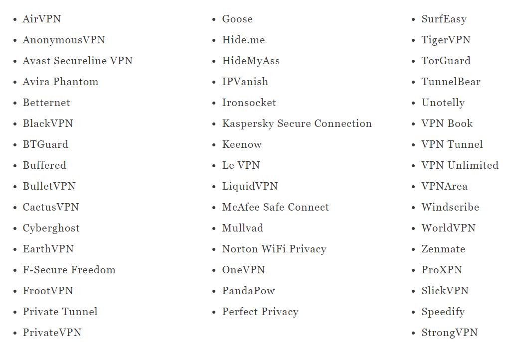 这些VPN中国不能用
